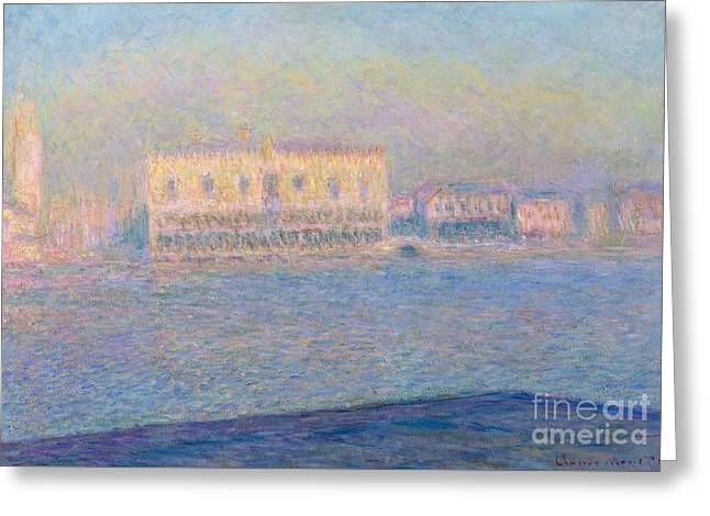 The Doge's Palace Seen From San Giorgio Maggiore, 1908 Greeting Card by Claude Monet