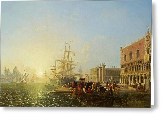 The Doge's Palace, Venice, 1835 Greeting Card by William James Muller
