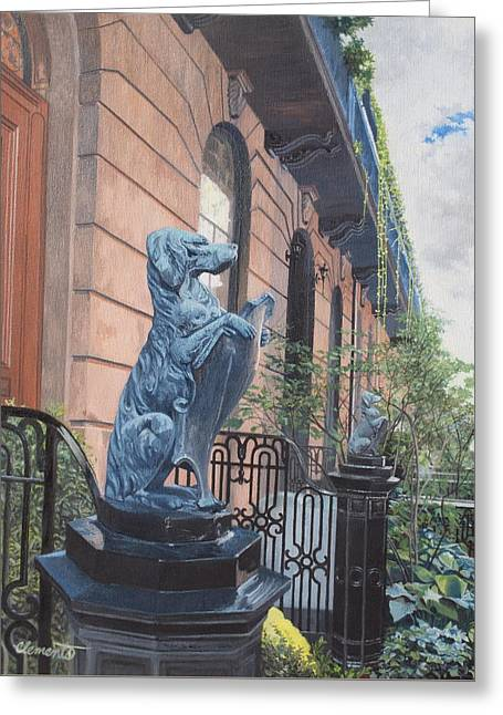 The Dogs On West Tenth Street, New York, Ny  Greeting Card