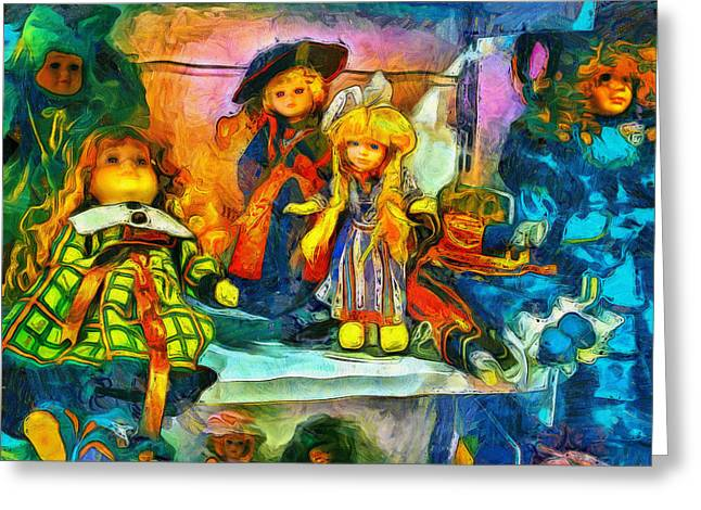 The Dolls Greeting Card