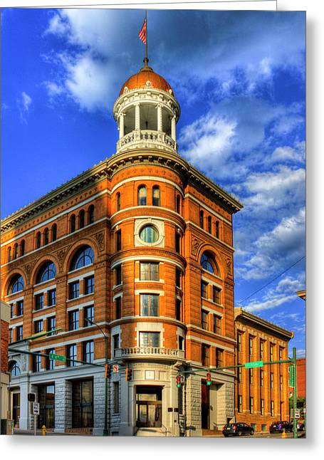 The Dome Building Flatiron Buildings Chattanooga Tennessee Greeting Card by Reid Callaway