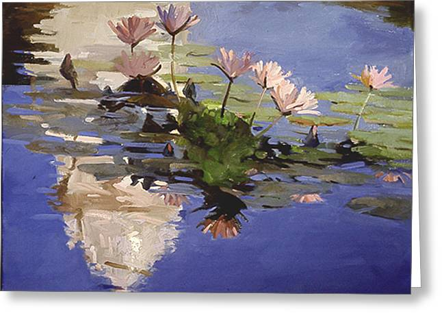 The Dome - Water Lilies Greeting Card