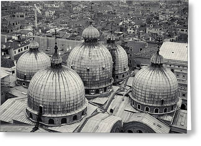 The Domes Of San Marco, Venice, Italy Greeting Card