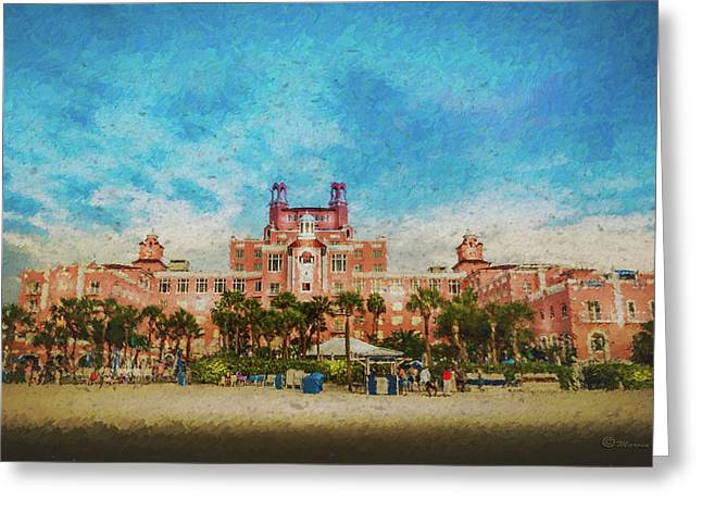 The Don Cesar Resort Greeting Card by Marvin Spates
