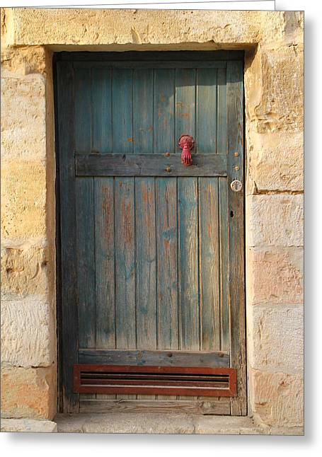 Greeting Card featuring the photograph The Door And The Hand by Yoel Koskas