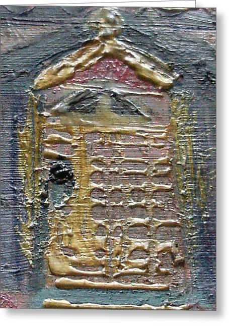 The Door Greeting Card by Anne-Elizabeth Whiteway