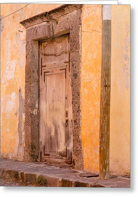 The Door At Number 29. Greeting Card by Rob Huntley