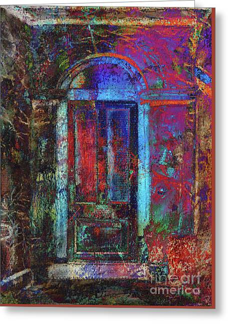The Door Greeting Card by Callan Percy