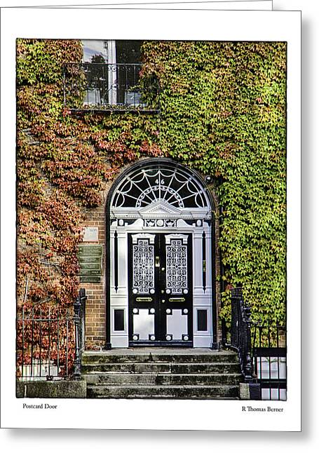 Greeting Card featuring the photograph The Door by R Thomas Berner