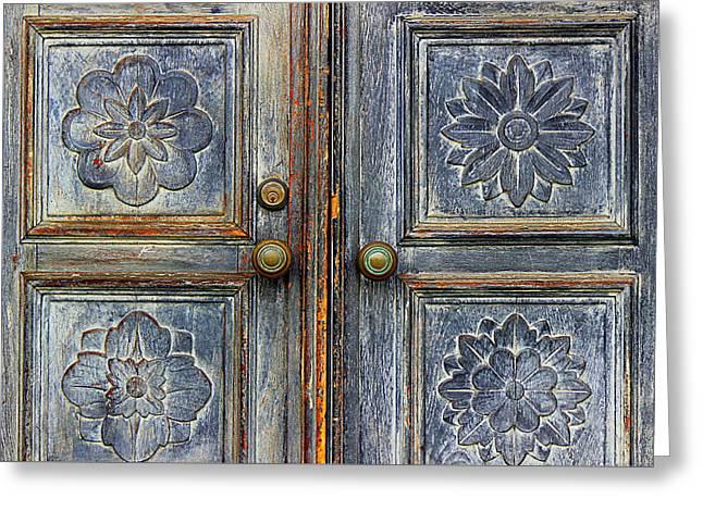 The Door Greeting Card by Ranjini Kandasamy