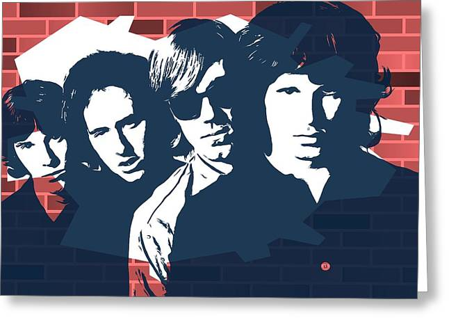 The Doors Graffiti Tribute Greeting Card by Dan Sproul