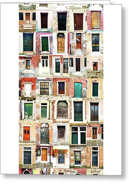 The Doors Of Murano Italy Greeting Card