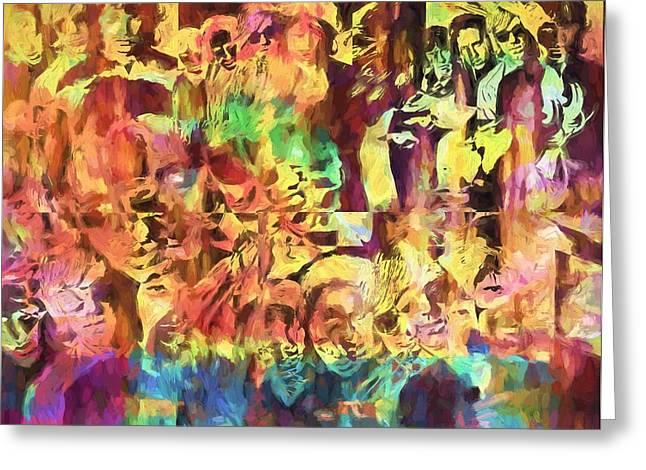The Doors Psychedelic Tribute Greeting Card by Dan Sproul