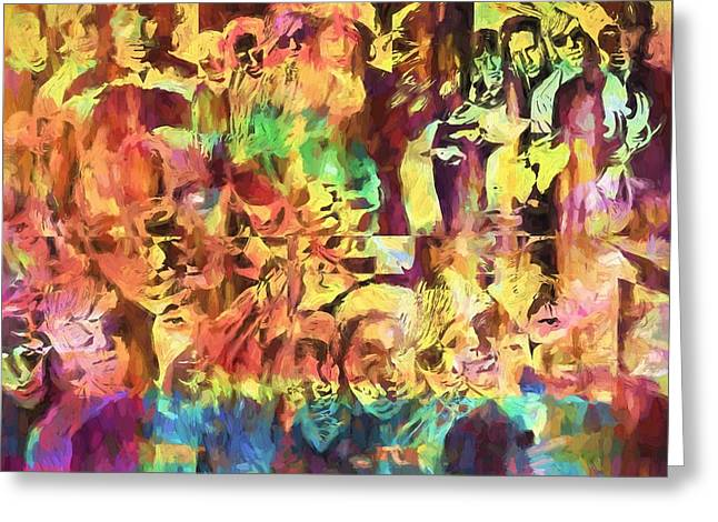 The Doors Psychedelic Tribute Greeting Card