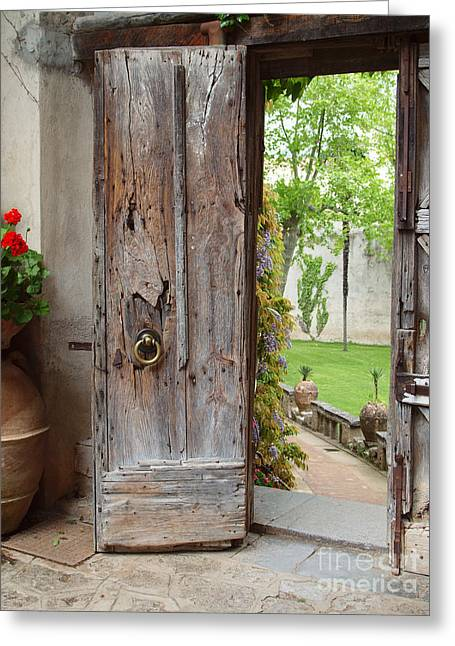The Doorway Greeting Card by Joyce Hutchinson