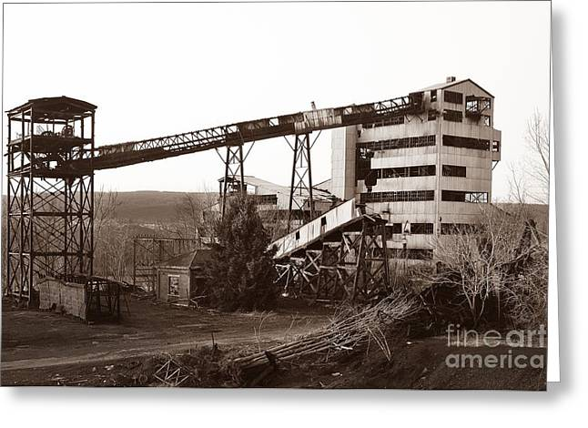 The Dorrance Coal Breaker Wilkes Barre Pennsylvania 1983 Greeting Card