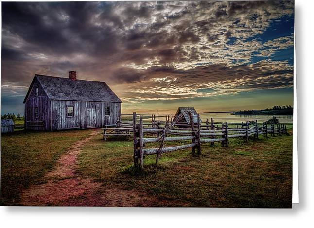 Greeting Card featuring the photograph The Doucet House by Chris Bordeleau