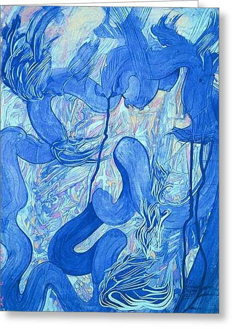 The Dragon.   2001.  Greeting Card by Lao Dan