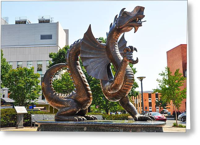 The Dragon - Drexel University Greeting Card by Bill Cannon