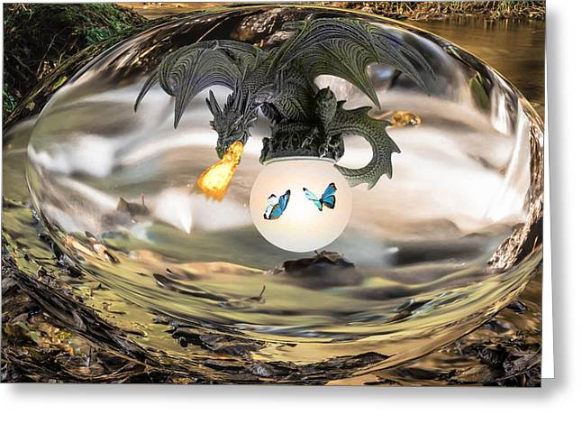 The Dragon Greeting Card by Kate Farrant