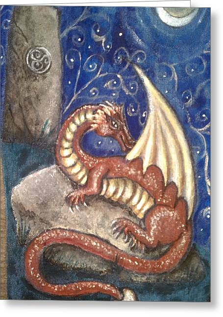 The Dragon Stone Greeting Card