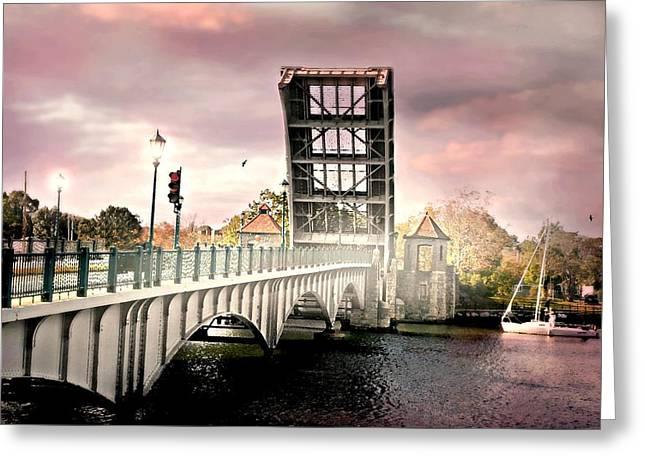 The Drawing Bridge Greeting Card