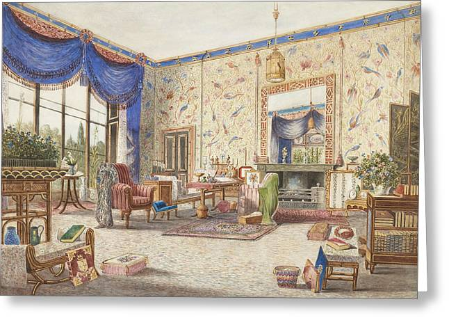 The Drawing Room At Middleton Park, Oxfordshire Greeting Card