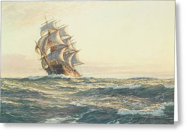 The Dreadnought Greeting Card by Montague Dawson