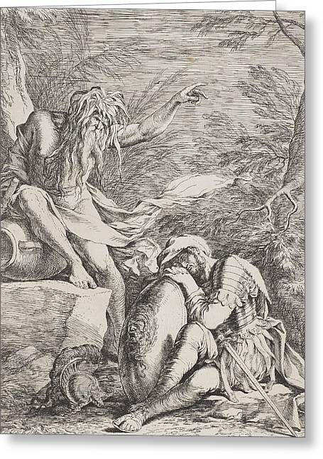 The Dream Of Aeneas Greeting Card by Salvator Rosa