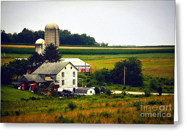 The Dream Of Being Back On The Farm Greeting Card by Christopher Shellhammer