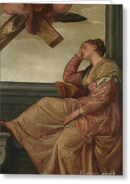 The Dream Of Saint Helena Greeting Card by Veronese