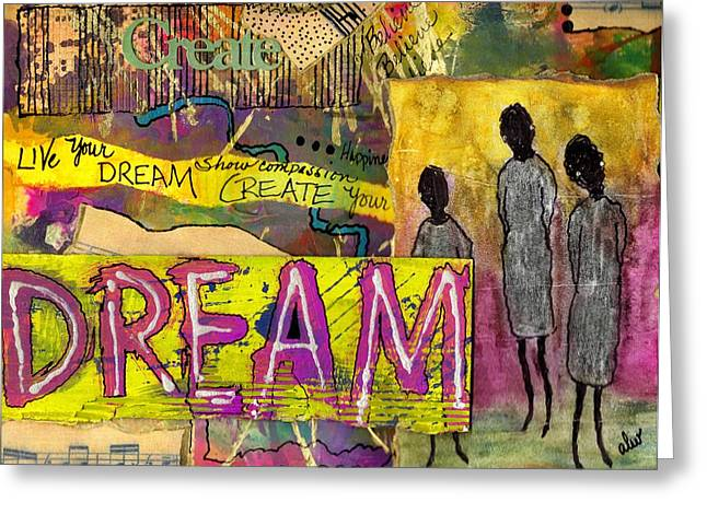 The Dream Trio Greeting Card by Angela L Walker