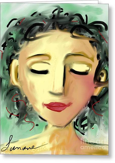 The Dreamer Greeting Card by Elaine Lanoue