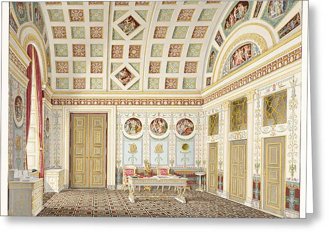 The Dressing Room Of King Ludwig I At The Munich Residence Palace Greeting Card by Franz Xaver Nachtmann