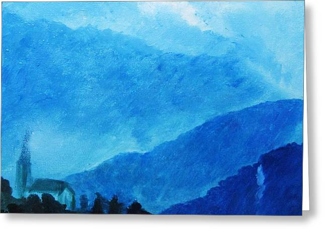Greeting Card featuring the painting The Drift by Trilby Cole