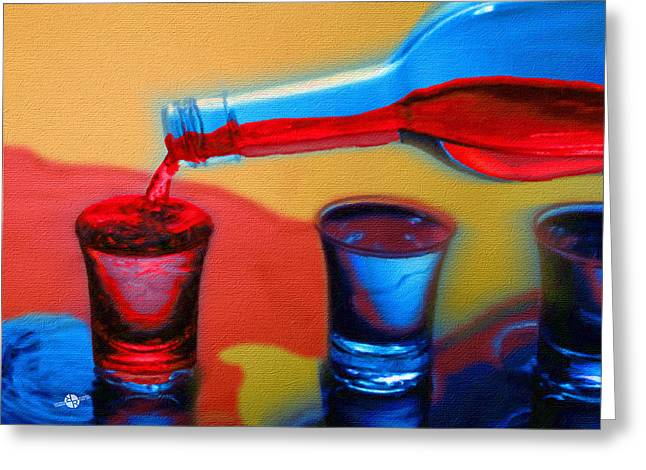 The Drink That Inspires You Ode To Addiction Greeting Card by Tony Rubino