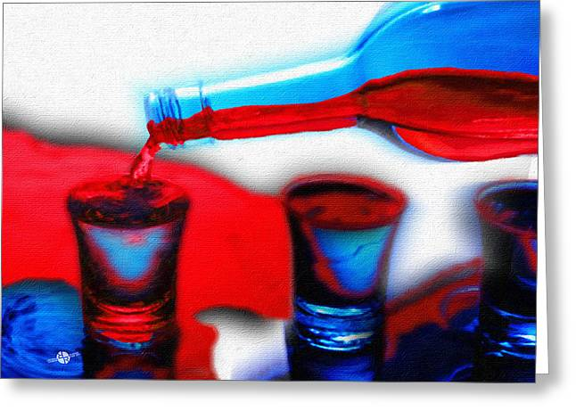 The Drink You Can Handle Ode To Addiction Greeting Card by Tony Rubino