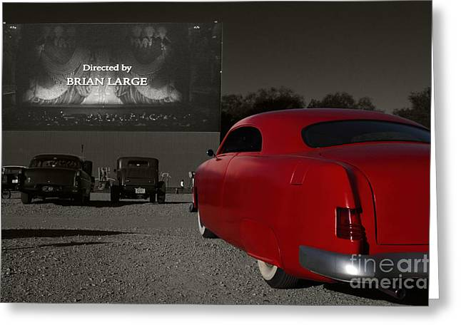Greaserama Greeting Cards - The Drive-In Greeting Card by Dennis Hedberg