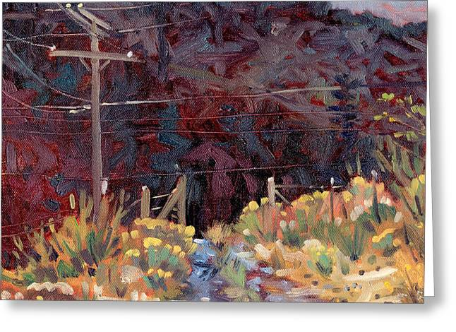 Telephone Poles Greeting Cards - The Driveway Greeting Card by Donald Maier