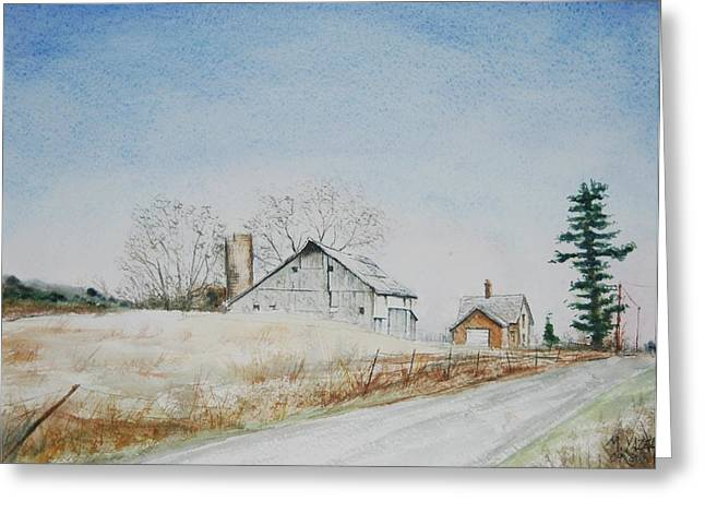 The Drockner Place Greeting Card by Mike Yazel