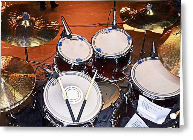 The Drum Set Greeting Card by Paul Mashburn