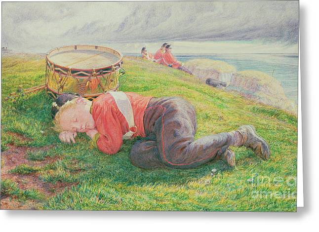 The Drummer Boy's Dream Greeting Card by Frederic James Shields