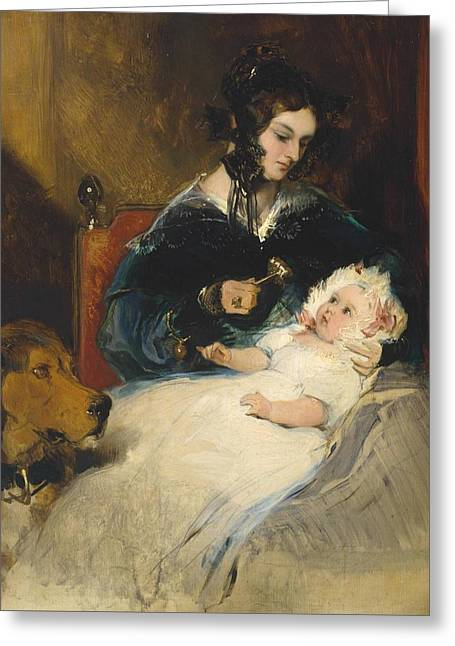 The Duchess Of Abercorn And Child Greeting Card