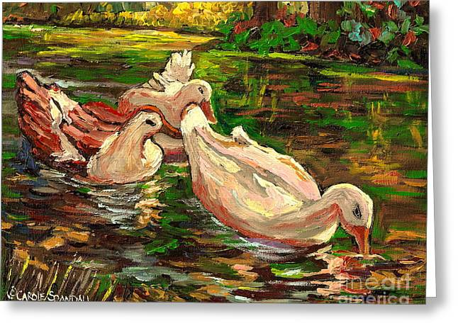 The Duck Pond At Botanical Gardens Greeting Card