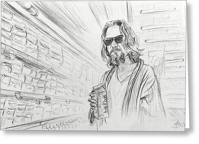 The Dude Abides Greeting Card by Michael Morgan