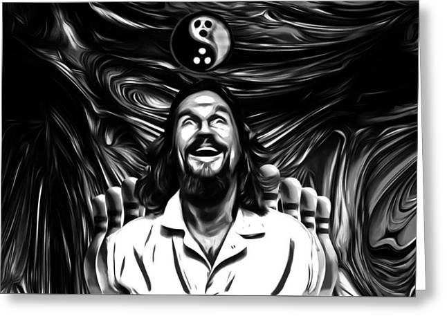The Dude B W Greeting Card