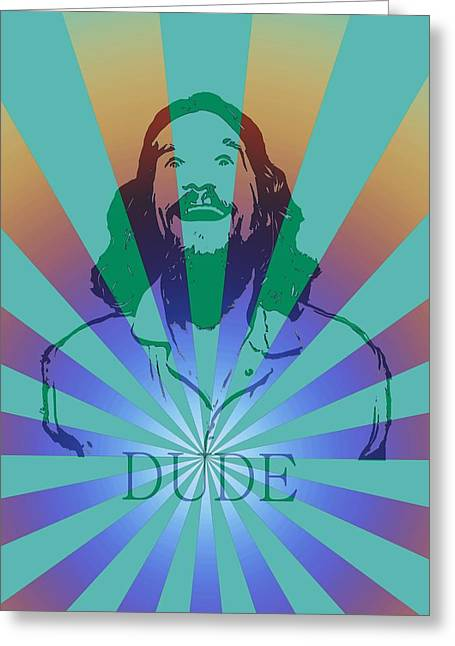The Dude Pyschedelic Poster Greeting Card by Dan Sproul