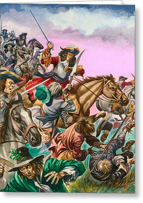 The Duke Of Monmouth At The Battle Of Sedgemoor Greeting Card by Peter Jackson
