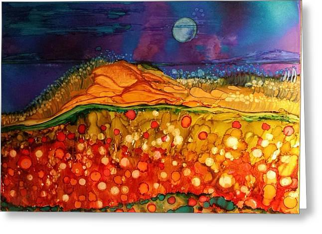 The Dunes At Night Greeting Card