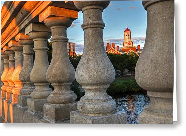 The Dunster House Through The John Weeks Bridge Harvard Square Greeting Card by Toby McGuire